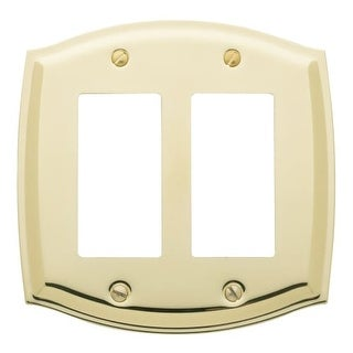 Baldwin 4787 Colonial Style Solid Brass Double GFCI Switchplate (More options available)