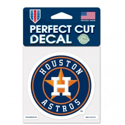 Houston Astros Decal 4x4 Perfect Cut Color