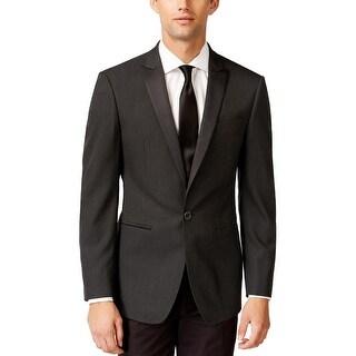 Calvin Klein CK Slim Fit Black Diamond One Button Evening Jacket