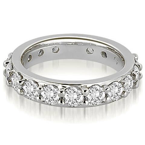 14K White Gold 2.00 CT Round Diamond Eternity Ring