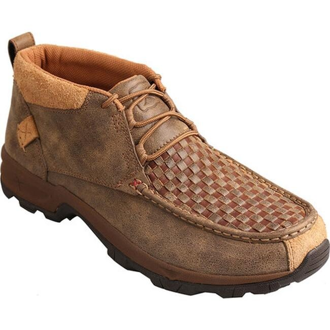 8815f5249e8 Twisted X Boots Men's MHK0008 Hiker Boot Woven Brown/Bomber Leather