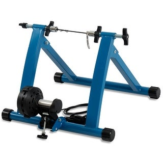 Akonza Indoor Cycling Bicycle Magnetic Trainer W/ Seven Levels Of Resistance Exercise Stand - Blue