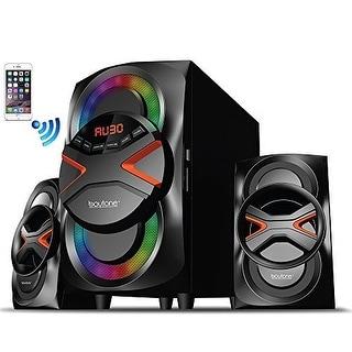 Boytone BT-326F, 2.1 Bluetooth Powerful Home Theater Speaker System, with FM Radio, SD USB ports, Digital Playback, 40 Watts, Di