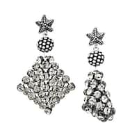 Aya Azrielant Mesh Earrings with Swarovski elements Crystals in Sterling Silver