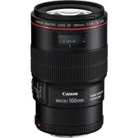 Canon EF 100mm f/2.8L Macro IS USM Lens (International Model)