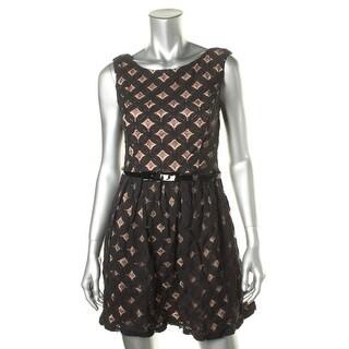 City Studio Womens Juniors Casual Dress Crochet Lined