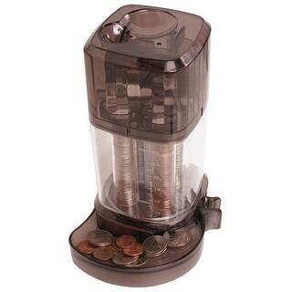 Smartworks Automatic Coin Sorting Bank - Separate and Organize Pennies Nickels Dimes and Quarters - Rotating Body