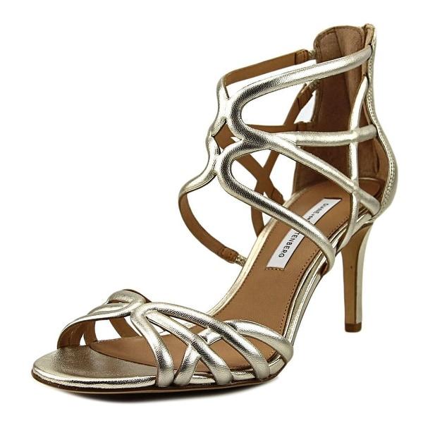 Diane Von Furstenberg Rao Women Open Toe Leather Gold Sandals