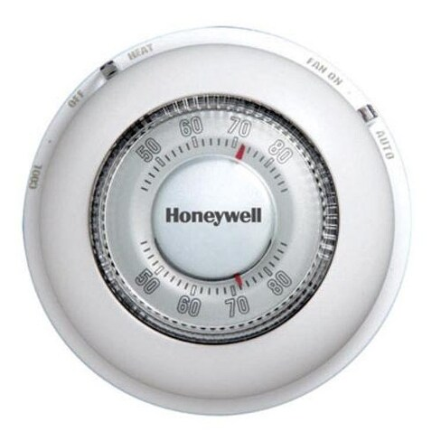 Honeywell YCT87N1006 Mercury Free Round Heat/Cool Thermostat