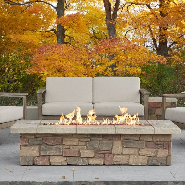 Sedona Rectangle LP Gas Fire Table with NG Conversion Kit. Opens flyout.