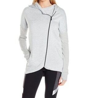 Betsey Johnson NEW Gray Womens Size XS Fleece Zip-Up Hooded Jacket
