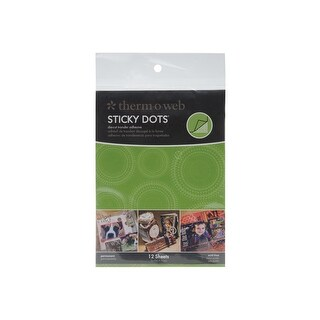 """Sticky Dot Die-Cut Adhesive Sheets-4.25""""X5.5"""" 12/Pkg"""