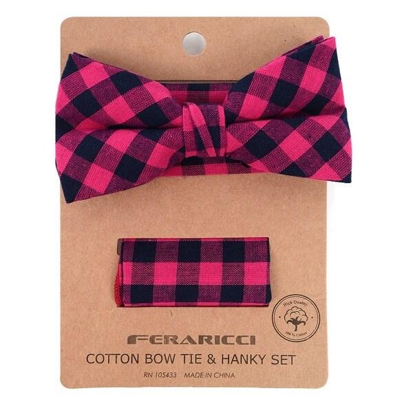 New Men/'s Pre-tied Bow Tie /& Pocket Square Hankie set zebra tan black formal