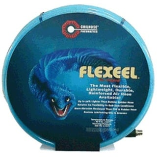 "Coilhose Pneumatics PFE60504T Flexeel Hose, Blue, 3/8"" x 50' x 1/4"" MPT, Brass"