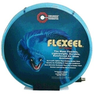 "Coilhose Pneumatics PFE60506T Flexeel Hose, 3/8"" x 50' x 3/8"" MPT"