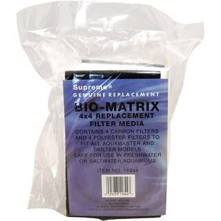 Supreme (Danner) ASP11844 4-Pack Bio-Matrix Carbon/Polyester Filter Pad for Aquarium