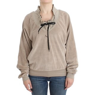Cavalli Cavalli Beige velvet cotton sweater