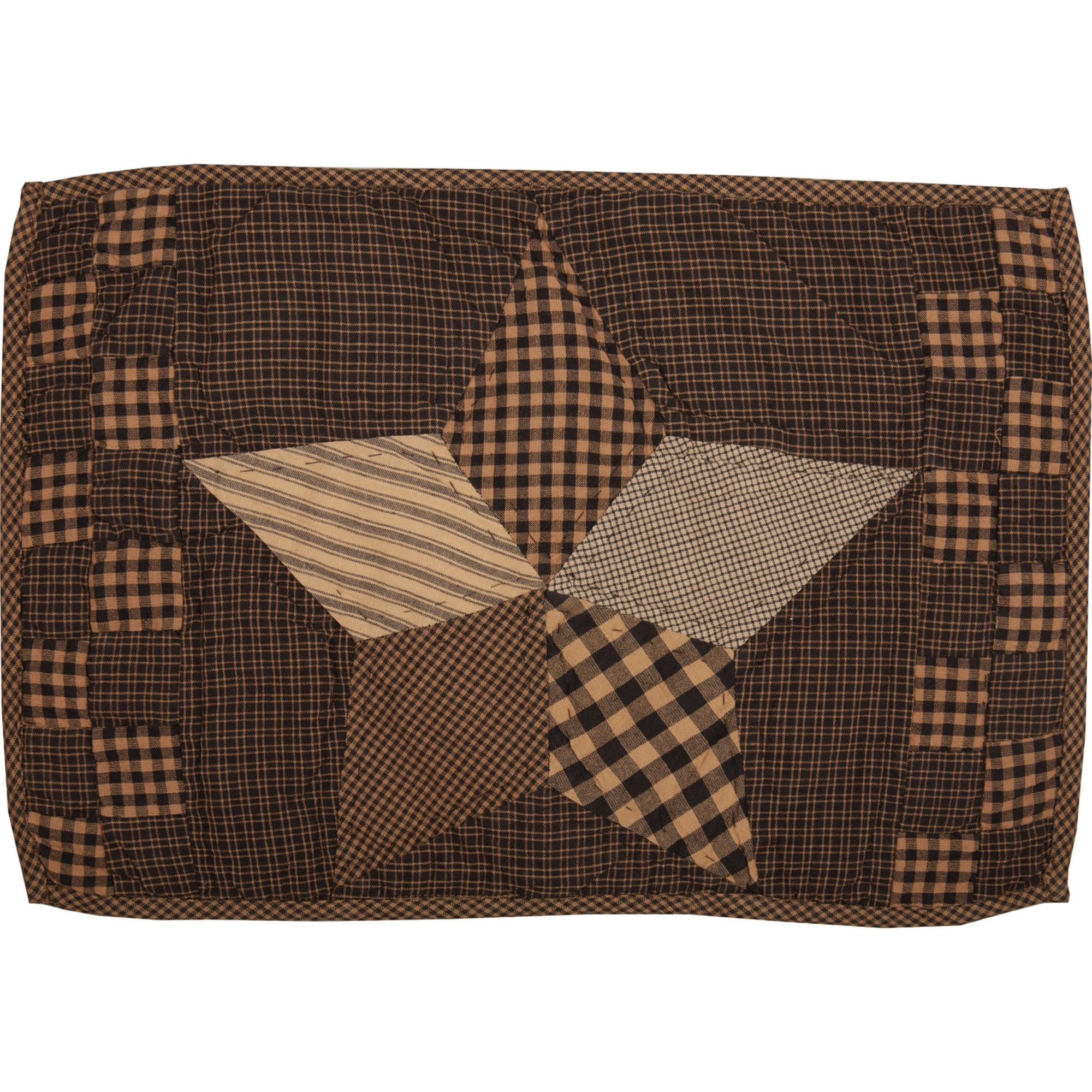 Farmhouse Star Placemat Quilted Set Of 6 12x18 Placemat 12x18 Overstock 17931408
