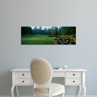 Easy Art Prints Panoramic Images's 'Stream in golf course, Laurel Valley Golf Club, Ligonier, Pennsylvania' Canvas Art