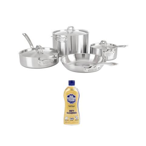 Viking Professional 5-Ply 7-Piece Cookware Set (Satin Finish) Bundle