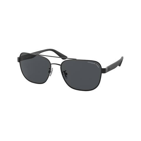Coach HC7122 938081 58 Matte Black Man Pillow Sunglasses