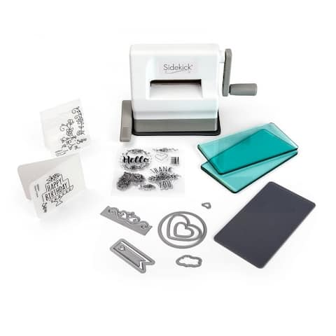 Sizzix Sidekick Starter Kit (White & Gray) - White