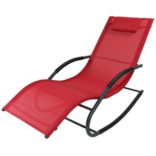 Sunnydaze Rocking Wave Lounger w/ Pillow - Multiple Options