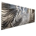 Statements2000 Silver 7 Panel Metal Wall Art Sculpture by Jon Allen - Hypnotic Sands - Thumbnail 0