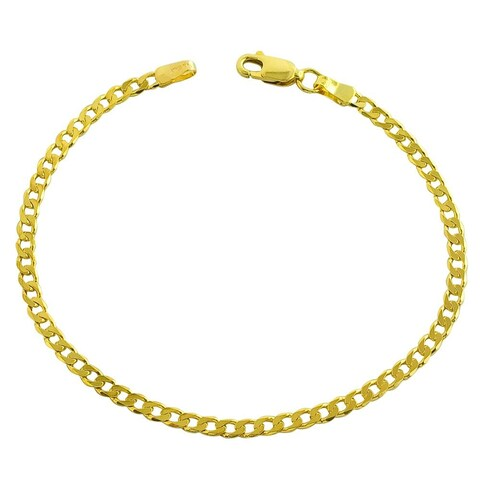 MCS Jewelry Inc 14 KARAT YELLOW GOLD SOLID CURB ANKLET BRACELET (10 INCHES)
