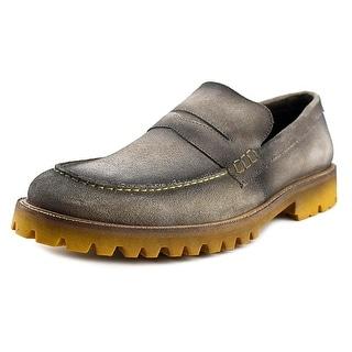 Donald J Pliner elton-ma Men Round Toe Synthetic Gray Loafer