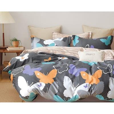 Tilly Butterfly Print 100% Cotton Comforter Set