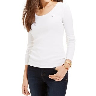Tommy Hilfiger Womens Casual Top Long Sleeve Scoop Neck