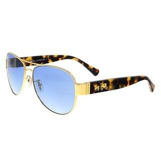 Coach HC7059 92001U Gold/Tokyo Tortoise Aviator Sunglasses - gold/tokyo tortoise - 58-15-135