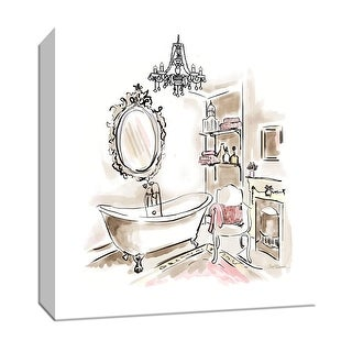 "PTM Images 9-147037  PTM Canvas Collection 12"" x 12"" - ""Pink Opulence II"" Giclee Bathroom Art Print on Canvas"
