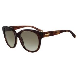 Nine West Womens Round Sunglasses Oversized UV Protection - honey tortoise - o/s