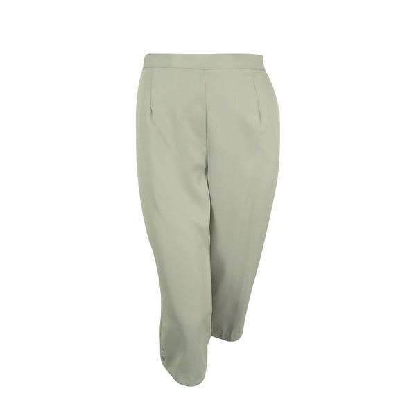 Alfred Dunner Women's Elastic Waist Capri Pants - Silver