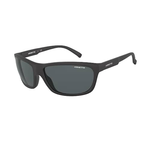 Arnette AN4263 01/87 63 Matte Black Man Oval Sunglasses