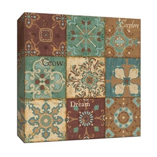 """PTM Images 9-153117  PTM Canvas Collection 12"""" x 12"""" - """"Tiles of Wisdom III"""" Giclee Patterns and Designs Art Print on Canvas"""