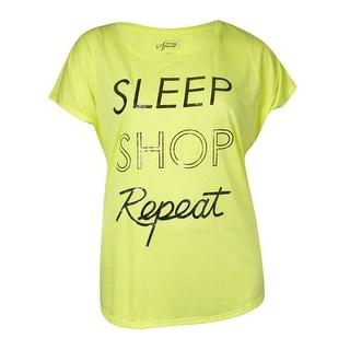 Style & Co. Women's 'Sleep Shop Repeat' Text Tee