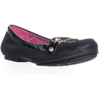 Anne Klein Drewe Link Loafers, Black 2/Black - 5.5 us