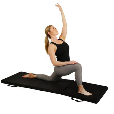 Sunny Health & Fitness No. 048 Tri-Fold Exercise Mat - Black