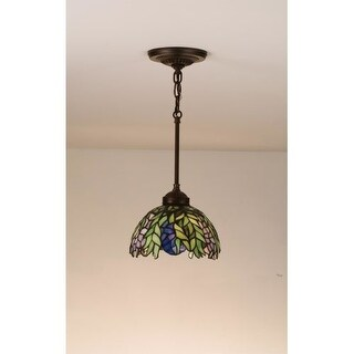 Meyda Tiffany 48922 Stained Glass / Tiffany Mini Pendant from the Honey Locust Collection