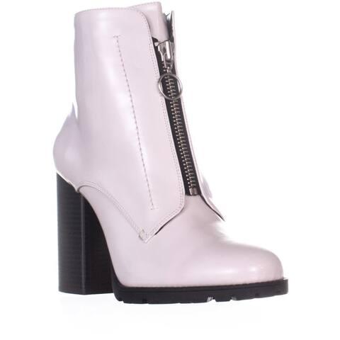 BCBGeneration Pilar Front Zip Ankle Boots, Chalk