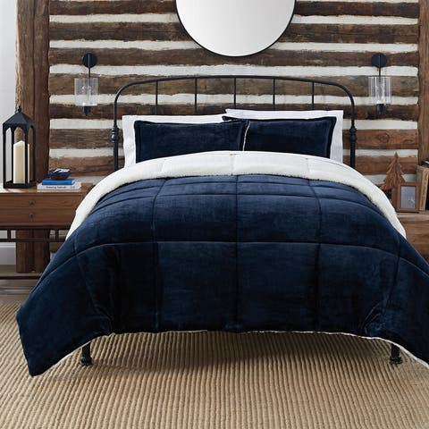 Serta Cozy Plush 3 Piece Comforter Set