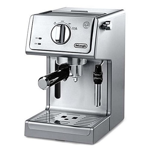 "De'Longhi 15"" Bar Pump Espresso & Cappuccino Machine (Stainless Steel). Opens flyout."
