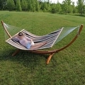 Sunnydaze Wooden Curved Arc Hammock & Hammock Stand, 12 Feet Long, 400 Pound Capacity - Thumbnail 7