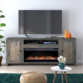 Link to Carbon Loft Rustic TV Stand w/ Electric Fireplace Similar Items in Fireplaces