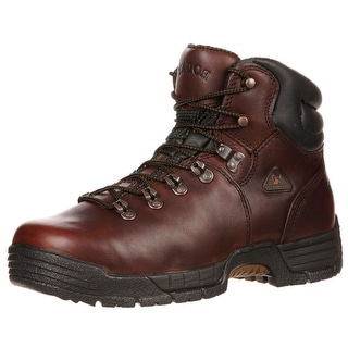"Rocky Work Boots Mens 6"" Mobilite Waterproof Brown FQ0007114"