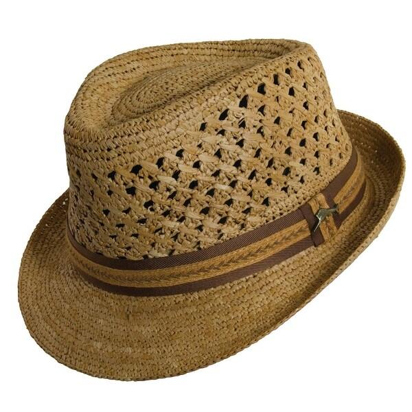 462ac9a6fdf8d Shop Tommy Bahama Crocheted Raffia Fedora Hat - Free Shipping Today ...