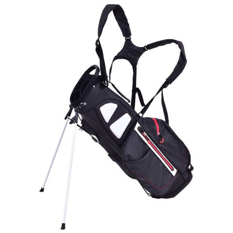 Gymax 8.5'' Golf Stand Cart Bag Club 4 Way Divider Carry